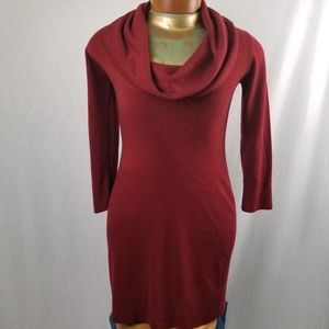 Connected apparel ruby red sweater dress M